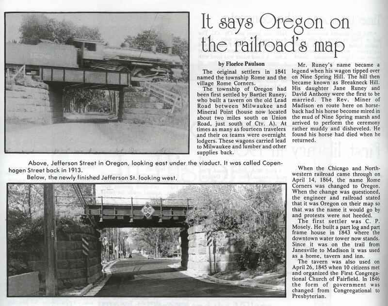 History of Oregon village name