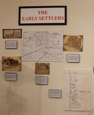 Early Settlers display