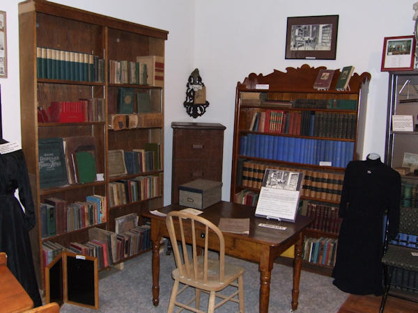 Library display at the OAHS Museum