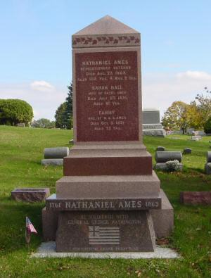Ames cemetery marker
