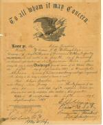 Elias Jacobus's Discharge from army