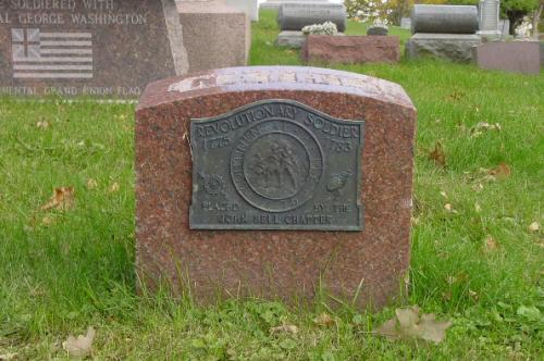 Revolutionary war vet marker