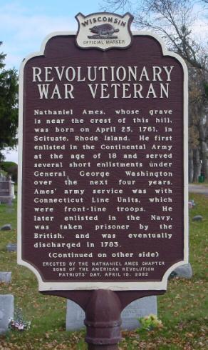 Revolutionary war vet sign side 1