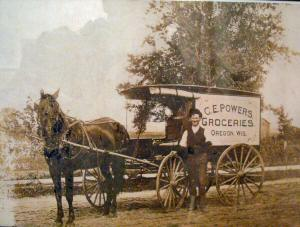 Powers Grocery wagon
