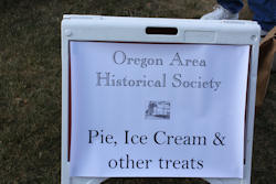 Ice Cream Social sign