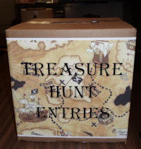 Treasure Hunt entry box