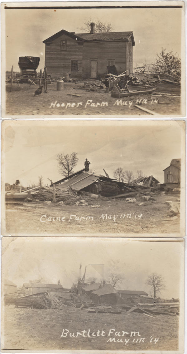 Scenes from May 14, 1914 tornado